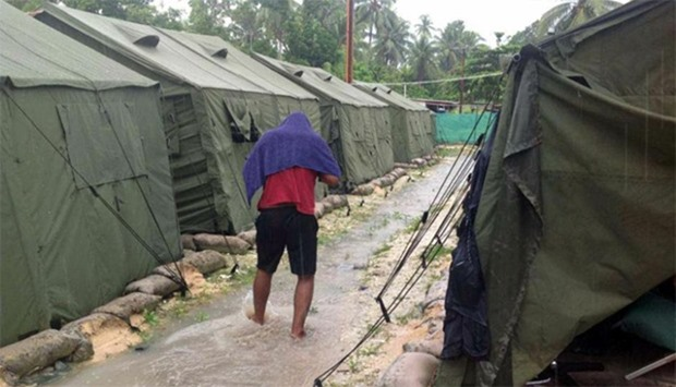 Tents at Australia's regional processing centre on Manus Island in Papua New Guinea.  Papua New Guin