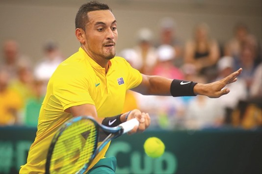 Kyrgios wins to send Australia to Davis Cup semi-finals