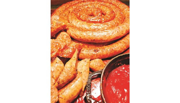 A home-made sausage. Photo by the author