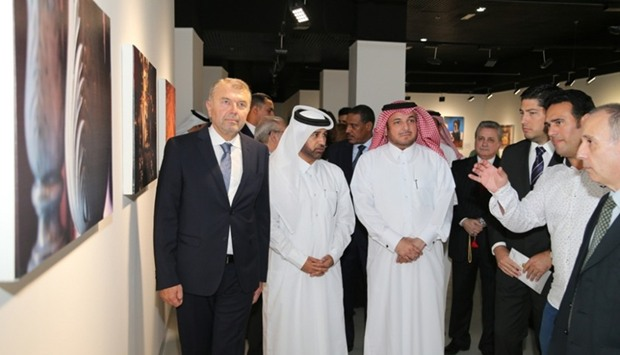 Dignitaries viewing the exhibition