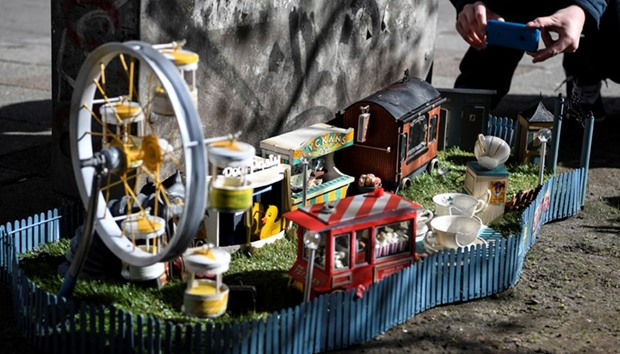 """A miniature amusement park for mice called """"Tjoffsans tivoli"""" is seen in Malmo, southern Sweden"""