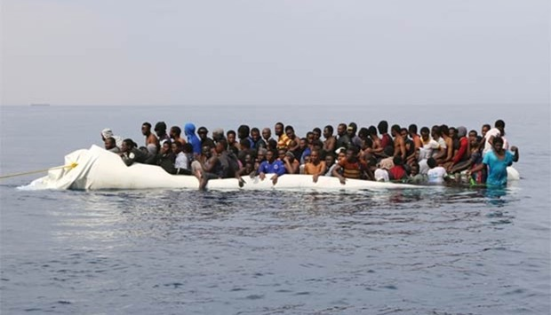 Libyan migrants