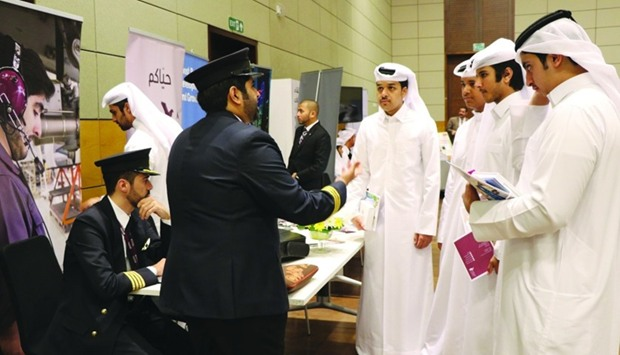 Students inquire about a pilot's career.