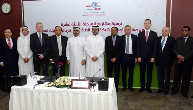 HE the Minister of Energy and Industry Dr Mohamed bin Saleh al-Sada and Kahramaa president Essa bin