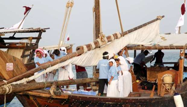 Traditional fishing competition (Hadaq) for children kicks off  at Katara beach.