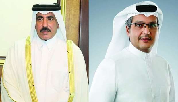 HE the Minister of Transport and Communications Jassim Seif Ahmed al-Sulaiti and CRA president Moham