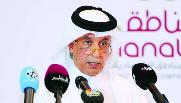 Al-Muraikhi addressing the Qatar-India Business and Investment Conference at the Rotana City Center