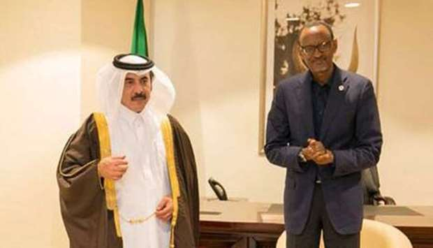 Emir sends message to Rwanda president
