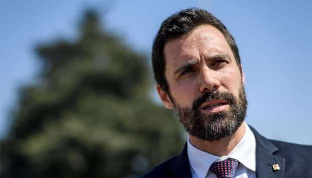 Catalan Parliament speaker Roger Torrent