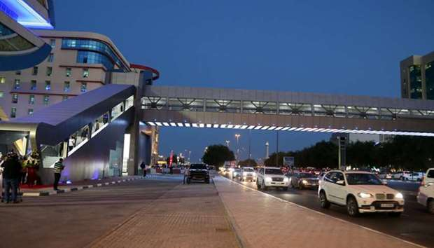 New pedestrian bridge opens on Airport Road