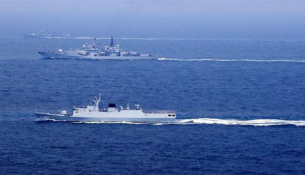 Chinese navy in the Pacific (file photo)