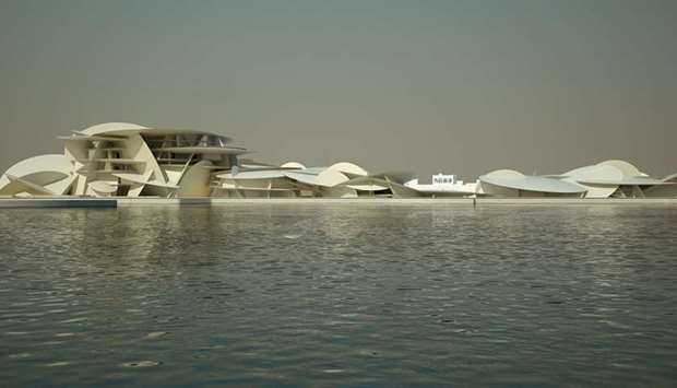National Museum's West view from the Doha Bay.