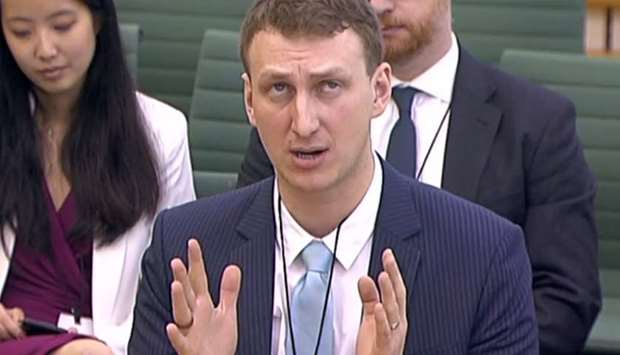 Aleksandr Kogan gives evidence to Parliament's Committee in London