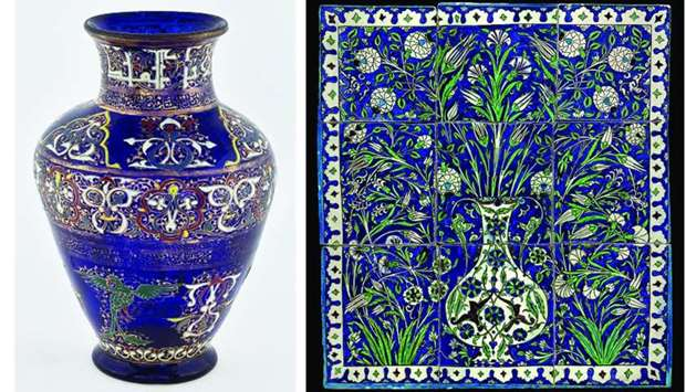 An exquisite vase and  Syria Matters to display pre-Islamic artefacts such as Islamic glass, ceramic