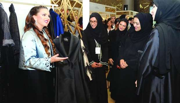 Dr Sheikha Aisha al-Thani (2nd, right), along with Jawaher al-Khuzaei and other dignitaries, touring