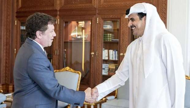 HH the Emir with Alejandro Dominguez