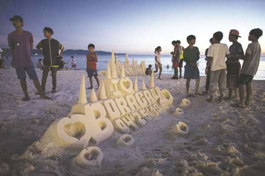 'Castle boys' in shifting sands of Boracay closure