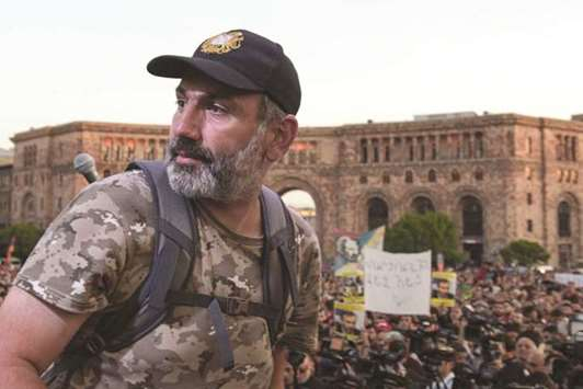 Armenian protest leader says he's the only possible premier