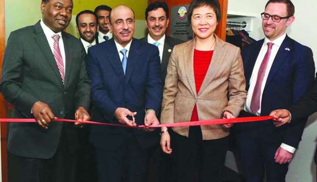 HE the Minister of Transport and Communications Jassim Seif Ahmed al-Sulaiti inaugurating Qatar's Pe