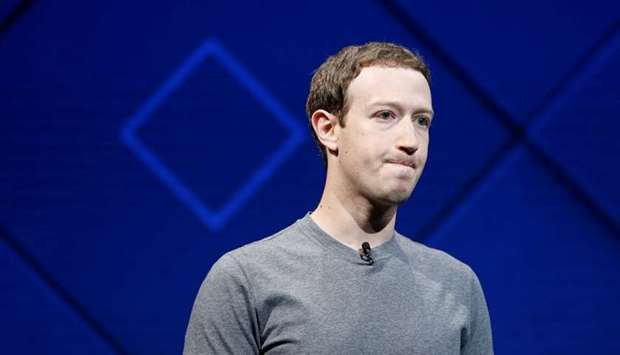 Zuckerberg speaks on stage during the annual Facebook F8 developers conference in San Jose, Californ