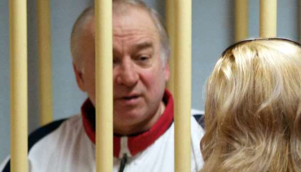Sergei Skripal attends a hearing at the Moscow District Military Court in Moscow