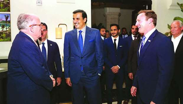 Emir attends reception held by Qatar's embassy in Miami