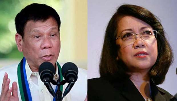 Sereno appears during oral argument on quo warranto case