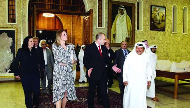 Bulgarian President Rumen Radev with HE Sheikh Faisal bin Qassim al-Thani during the visit to the mu