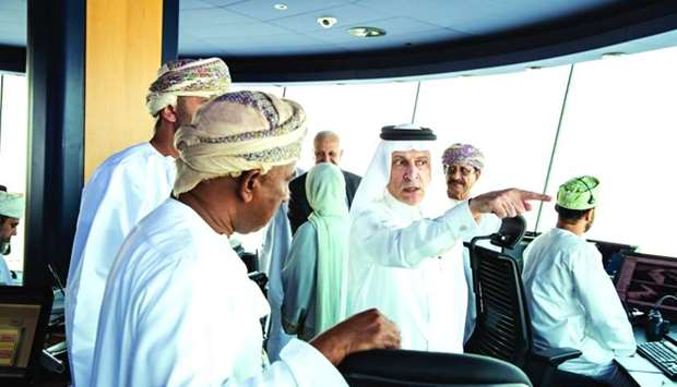Al-Baker at the control tower of Muscat International Airport