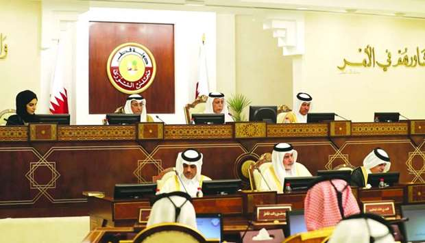 A session of the Shura Council Monday.