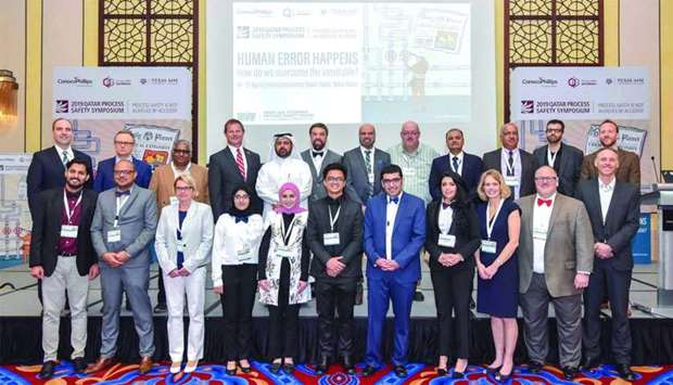 Delegates who attended the opening of the 10th Qatar Process Safety Symposium in Doha.