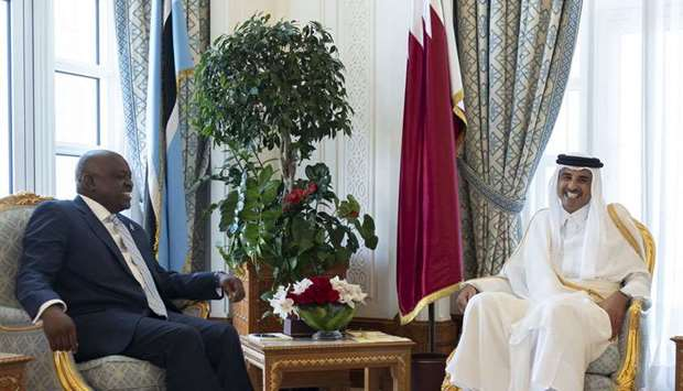 Amir, Botswana president hold talks