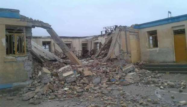 Girl school destroyed in western Afghanistan by Taliban