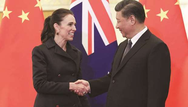 New Zealand PM hails 'important' China relations