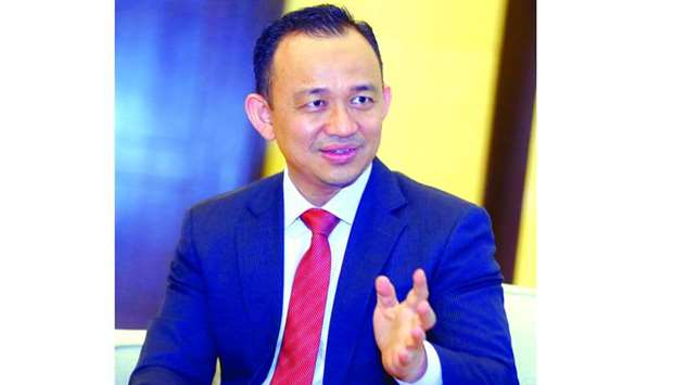Malaysia's Education Minister Dr Maszlee bin Malik speaks to the media in Doha