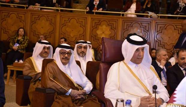 HE the Minister of State for Foreign Affairs Sultan bin Saad al-Muraikhi led the Qatari delegation a