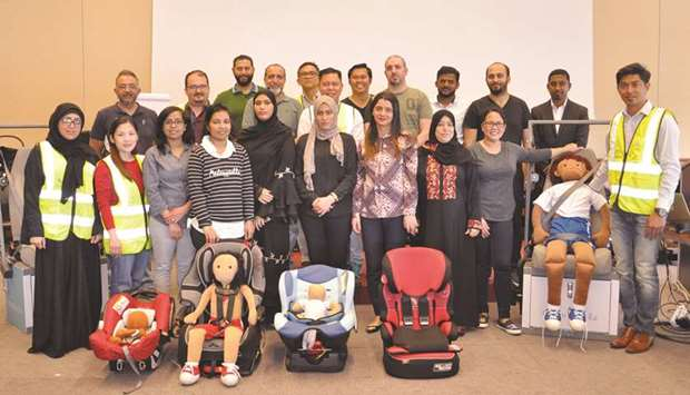 Nissan showroom hosts training on installing infant car seats