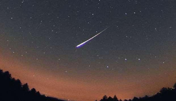Lyrids meteor shower over Qatar sky Monday night