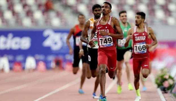 Qatar's Abubaker Haydar Abdalla in action during the Men's 800m