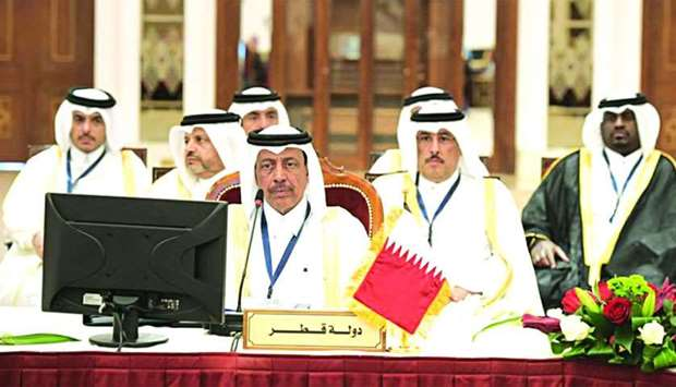HE the Director of Public Security, Staff Major General Saad bin Jassim al-Khulaifi chairing the Qat