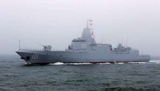 China's 055-class guided missile destroyer Nanchang