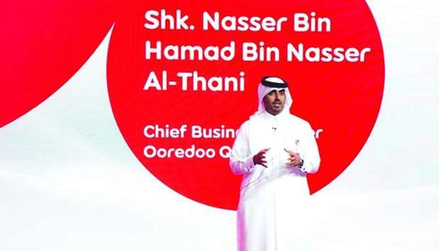 Ooredoo Qatar chief business officer Sheikh Nasser bin Hamad bin Nasser al-Thani