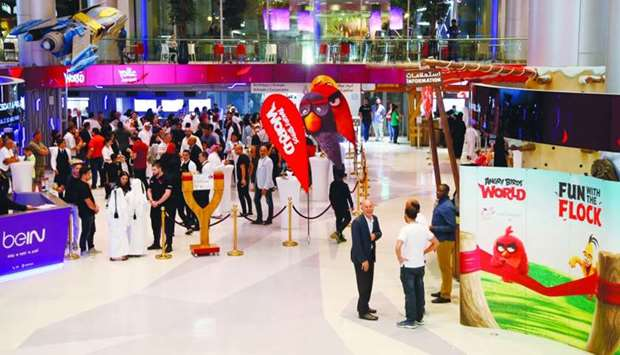 A view of Angry Birds World at Doha Festival City.