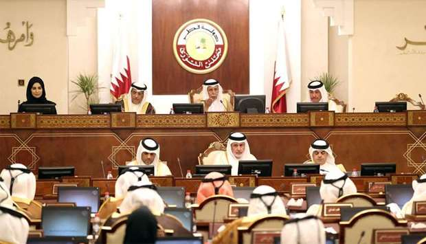 The Shura Council held its regular weekly meeting on Monday under the chairmanship of HE the Speaker