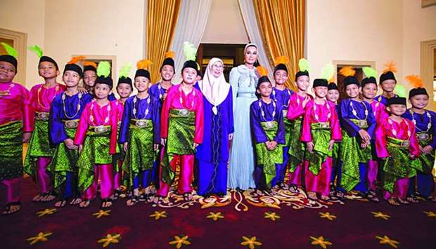 Her Highness Sheikha Moza bint Nasser attended a dinner banquet hosted by Malaysian Deputy Prime Min