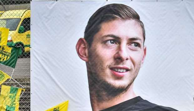 Portrait of Argentinian forward Emiliano Sala at the Beaujoire stadium in Nantes