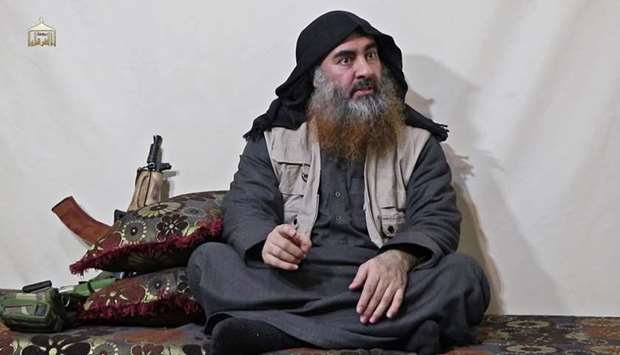 Islamic State group Abu Bakr al-Baghdadi purportedly appears for the first time in five years in a p