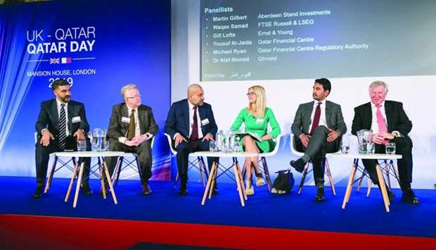 Al-Jaida speaks during the panel discussions at Qatar Day in London.