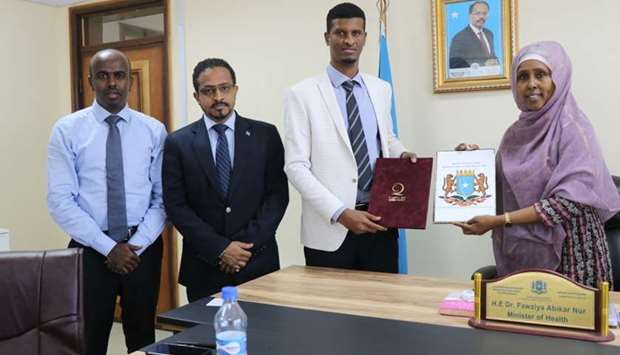 Agreement was signed by Dr Fawziya Abikar, Minister of Health and Social Care, and Abdul Nour Haj Al