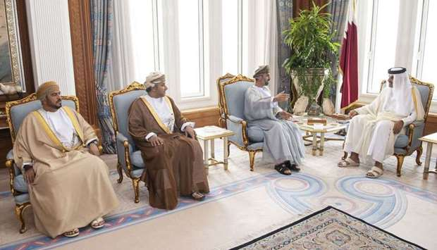 Amir Meets Oman's Consultative Council President